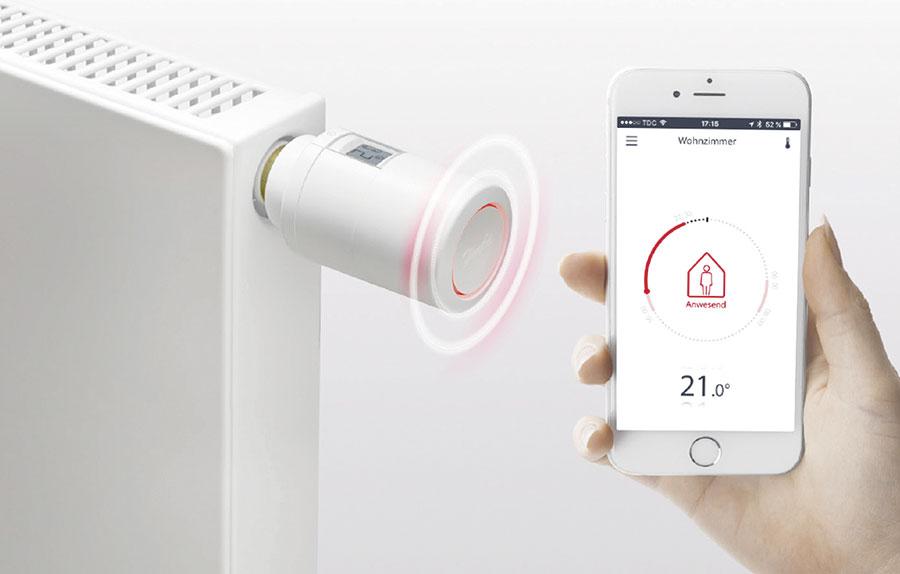 danfoss programmierbarer thermostat per app steuerbar ikz. Black Bedroom Furniture Sets. Home Design Ideas