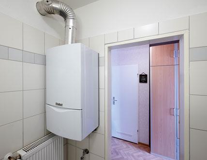 vorausschauendes w rmekonzept f r den wohnungsbau umr stung von gas kombithermen auf zentral. Black Bedroom Furniture Sets. Home Design Ideas