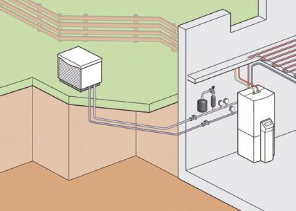 Kalte Luft für warmes Wasser<br>Effizienzverbesserte Generation von ...