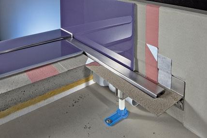 Bodengleiche Duschen bei niedrigen Aufbauhöhen: Einbindung von ...