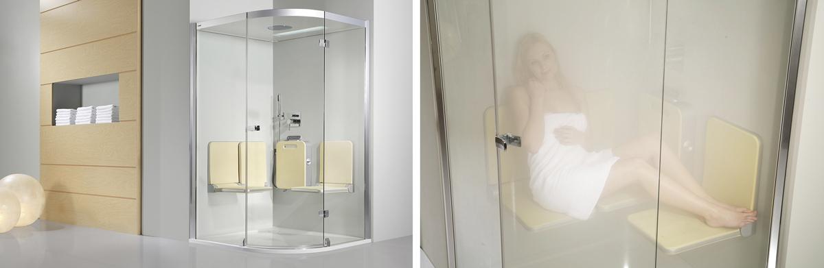 selbst auf knappem raum ist gesunde entspannung im dampfbad von artweger mglich body soul bietet die dusche und dampfbad in einem bild artweger - Infrarotkabine Kombiniert Mit Dusche