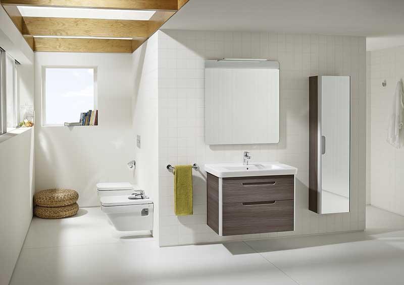 Good Stil Und Atmosphre Des Gesamten Raumes Werden Von Der Dama Bestimmt  Der Verleiht Dem Bad Moderne Eleganz Bild Roca With Moderne Waschtische Bad