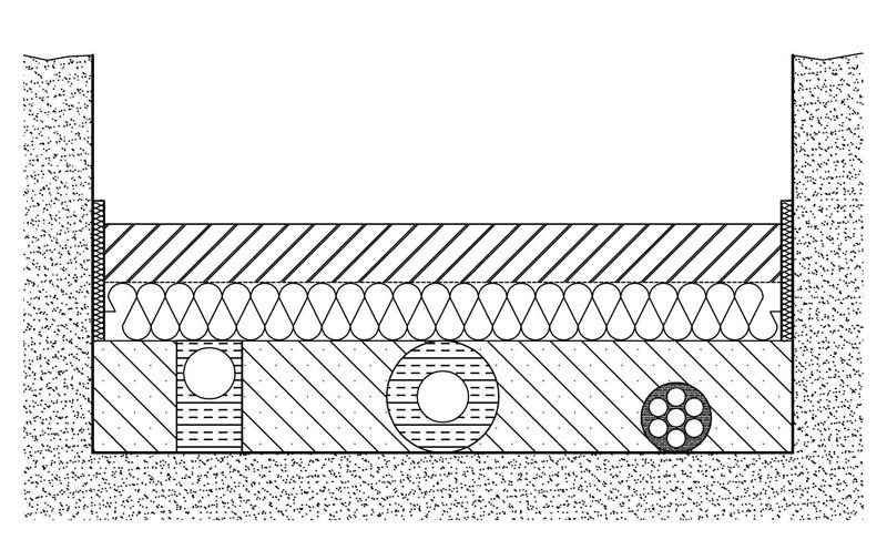 rohrleitungen im fu bodenaufbau ikz. Black Bedroom Furniture Sets. Home Design Ideas