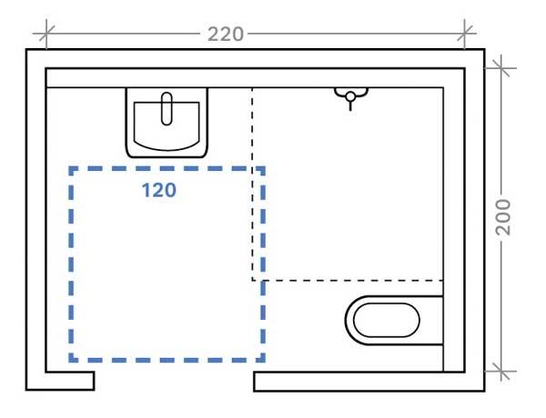 ma st be setzen din 18040 bedarfsgerechte l sungen f r mehr bewegungsfreiheit im bad ikz. Black Bedroom Furniture Sets. Home Design Ideas