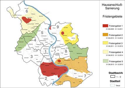 Wasserschutzzonen Köln