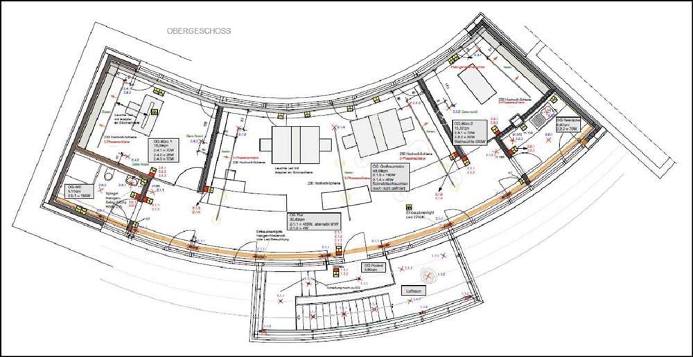 Lichtplan U2013 Grundriss Bürogebäude. (Quelle: Institut Für Baubiologie Und  Ökologie (IBN))