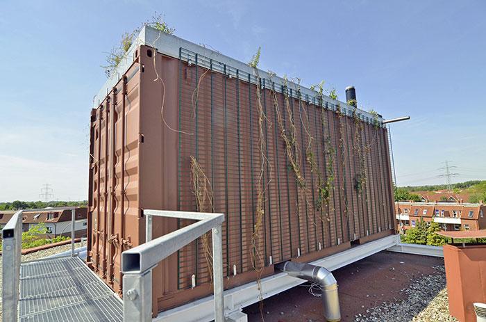 Container Wohnungen dachheizzentralen in containern statt kombithermen in wohnungen ikz