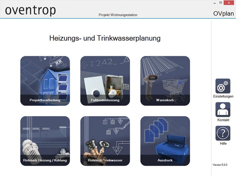 oventrop ovplan software erweitert ikz. Black Bedroom Furniture Sets. Home Design Ideas