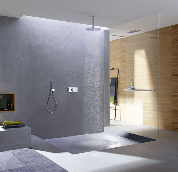 hansgrohe neues bedienelement f r die dusche ikz. Black Bedroom Furniture Sets. Home Design Ideas