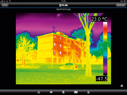 flir systems gmbh infrarotbilder auf ipad und iphone verarbeiten ikz. Black Bedroom Furniture Sets. Home Design Ideas