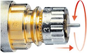 Danfoss ventil durchfluss einstellen