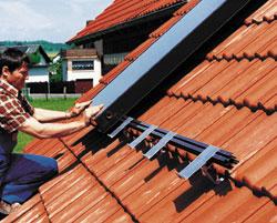 Montage von kollektoranlagen Markisen auf dach montage