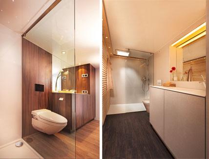 bewegliches bad der mobile bathroom von spectra anh nger mit vollwertiger badeinrichtung ikz de. Black Bedroom Furniture Sets. Home Design Ideas