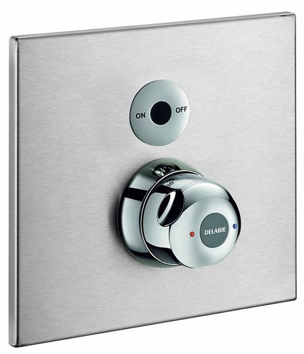 kuhfuss delabie thermostat duscharmatur inklusive. Black Bedroom Furniture Sets. Home Design Ideas