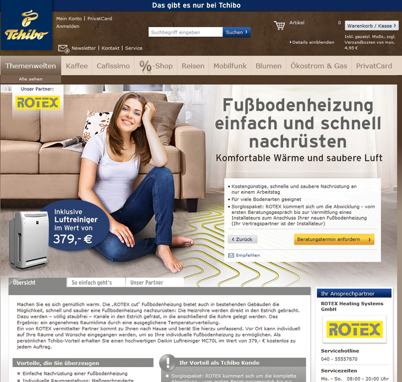 fu bodenheizungen vom kaffeer ster rotex heating systems. Black Bedroom Furniture Sets. Home Design Ideas